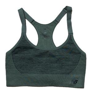 New Balance Sport Bra Green Size Medium EUC